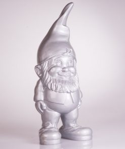 Design Tuinkabouter 30 cm zilver  (13 x 12 x 30 cm)
