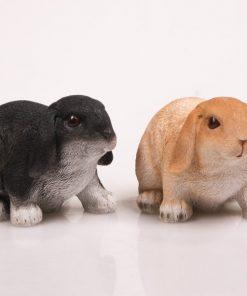 Dierenfiguur hangoor konijn levensecht